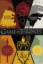 GAME OF THRONES-SIGILS 24X36 POSTER WALL ART AMERICAN FANTASY DRAMA SERIES HBO!!