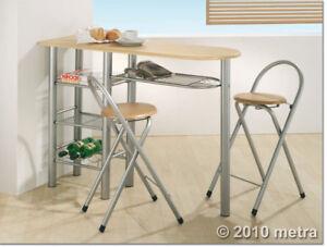 Küchenbar mit 2 Stühlen, Küchentisch, Bistro Tisch Holz ...