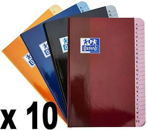 Lot de 10 Répertoires Oxford brochure 14,8x21 cm 192 pages petits carreaux 90g -
