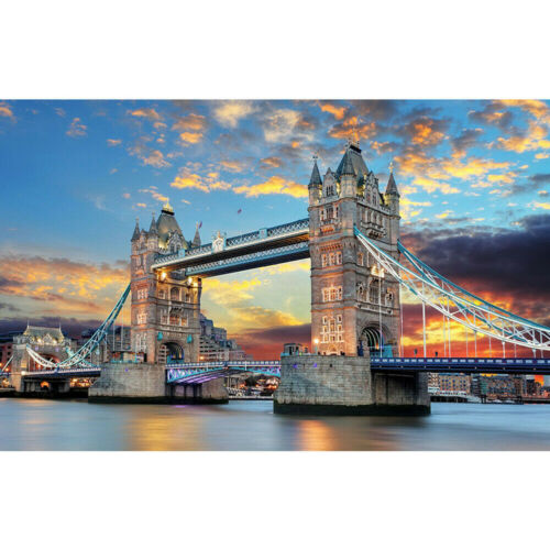 1000 Pieces Jigsaw Puzzles Scene Bridge London England Decompress Toys Adult