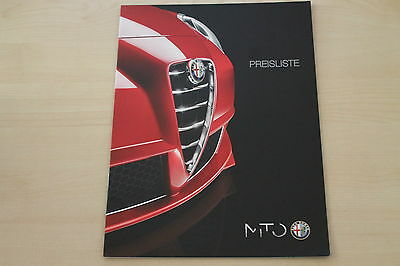 Preise & Tech Daten & Ausstattungen Prospekt 01/201 172000 Alfa Romeo Mito