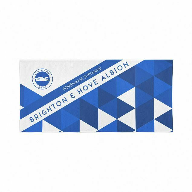 Brighton and Hove Albion Large Beach Towel – Personalise with Any Name
