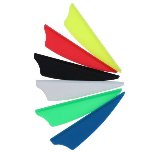 "30pcs//bag 2/"" Rubber Vanes Archery Arrow Feather Fletching Shield DIY Tool /_P2"