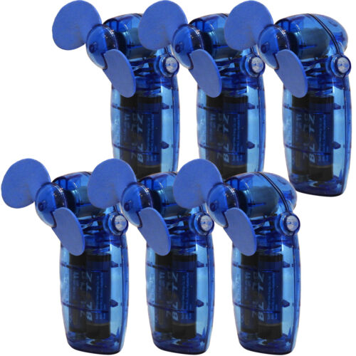 6 x Pocket Size Battery Operated Wind Air Cooler Sure Travel Fan Multi Pack