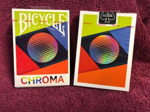 1 DECK Bicycle Chroma cardistry playing cards