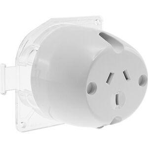 Details about 10 x Clipsal 413 Surface Socket Plug Base 10 Amp Back on