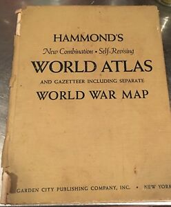 Hammond Indiana Zip Code Map.Hammond S World Atlas And Gazetteer World War Map Ebay