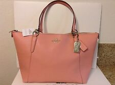 NWT. COACH CROSSGRAIN LEATHER AVA TOTE HANDBAG SHOULDER BAG PINK F57526