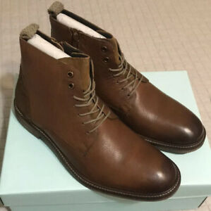 mens modern fiction leather chukka boots size 9 new brown