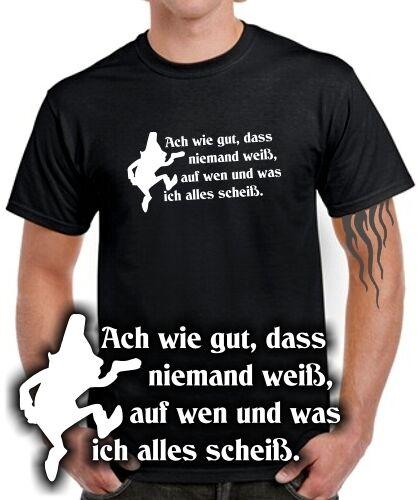 Fun T-SHIRT Märchen Gebrüder Grimm RUMPELSTILZCHEN SATIRE Ich scheiß auf Alles