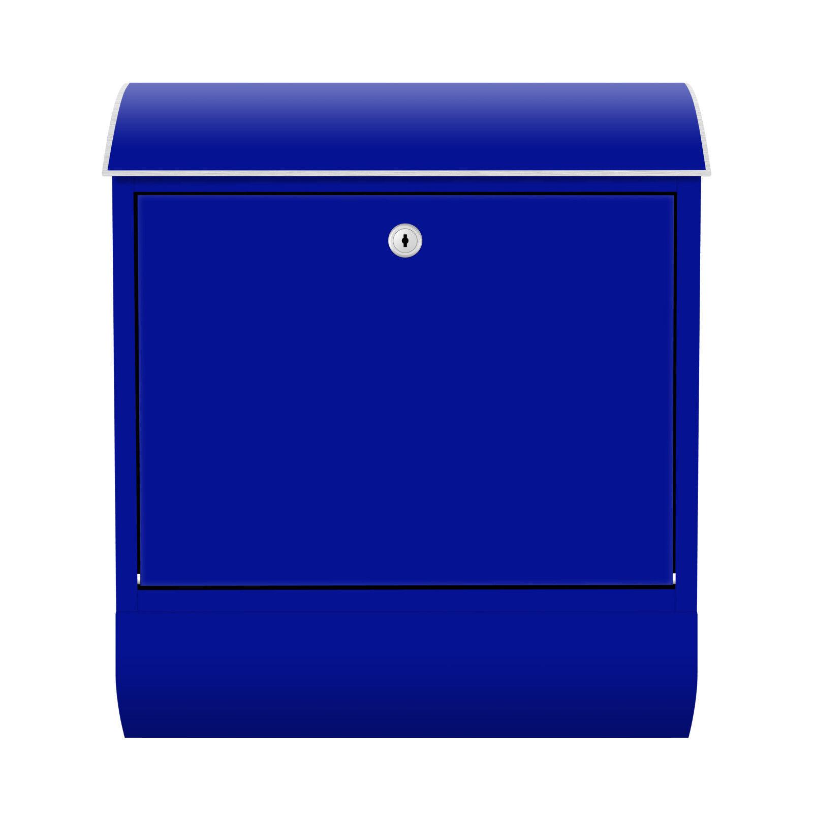 Design Briefkasten Zeitungsfach Blau Farbe Bunt Abstrakt Retro Brief Himmel Box