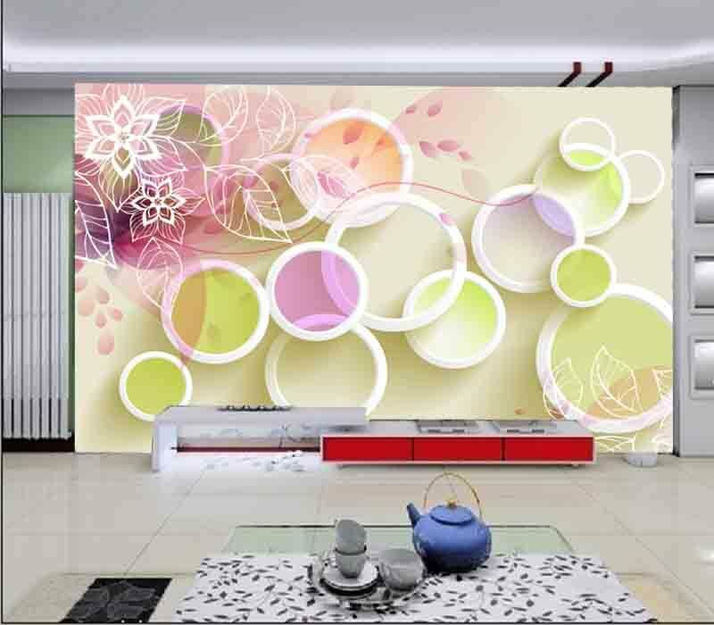 Colorful Funny Ring Ring Ring 3D Full Wall Mural Photo Wallpaper Printing Home Kids Decor ee9b6e