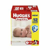 Huggies 1 112 Dry Diapers Snug And Size Count Baby Newborn Free Shipping