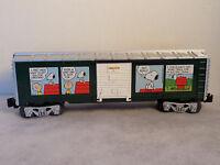 Lionel O-gauge Peanuts Christmas Boxcar -
