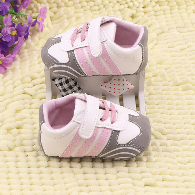 Toddler baby boy girl baby shoes crib shoes Sports shoes size Newborn to 18 Mth