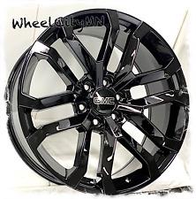 22 Inch Gloss Black 2021 Gmc Sierra 1500 Yukon Denali Oe Replica Rims 6x55 24