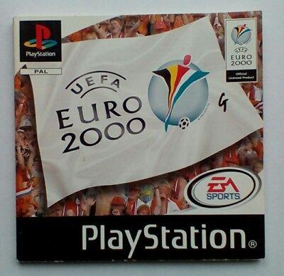*instructions Only* Uefa Euro 2000 Manual Ps1 Psone Playstation 1 One Zowel De Kwaliteit Van Vasthoudendheid Als Hardheid Hebben