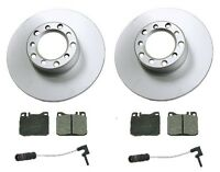 Mercedes W123 240d 79-83 Front Disc Brake Rotors+pads Kit Best Value W/ Sensors on sale