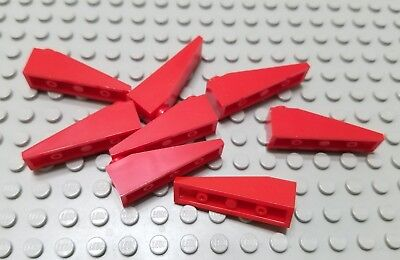 New LEGO Lot of 8 Red 4x1 Roof Slope Pieces
