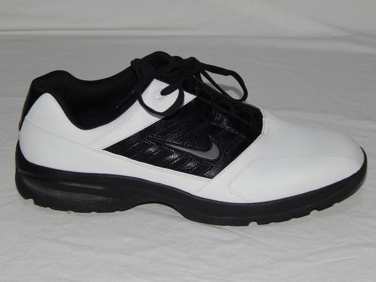 Nike hombre Negro logo Blanco color block Swoosh logo Negro 312358-101 Golf zapatos cómodos 92cae2