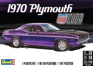 REVELL-MONOGRAM-4416-1-25-1970-Plymouth-AAR-Cuda-Plastic-Model-Car-Kit-FREE-SHIP