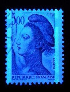 France-Maury-n-2195-Y-amp-T-n-2190-Liberte-de-Gandon-Rare-bande-phosphore-a-cheval