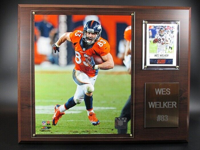 Wes Welker Denver Broncos Wood Wall Picture 15In, Plaque NFL Football