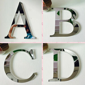 Silver-Mirror-Letters-Wall-Stickers-Home-Bedroom-Decals-Decor-Acces-Art