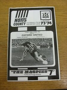 02101973 Notts County v Oxford United  Light Fold Thank you for viewing thi - <span itemprop=availableAtOrFrom>Birmingham, United Kingdom</span> - Returns accepted within 30 days after the item is delivered, if goods not as described. Buyer assumes responibilty for return proof of postage and costs. Most purchases from business s - Birmingham, United Kingdom