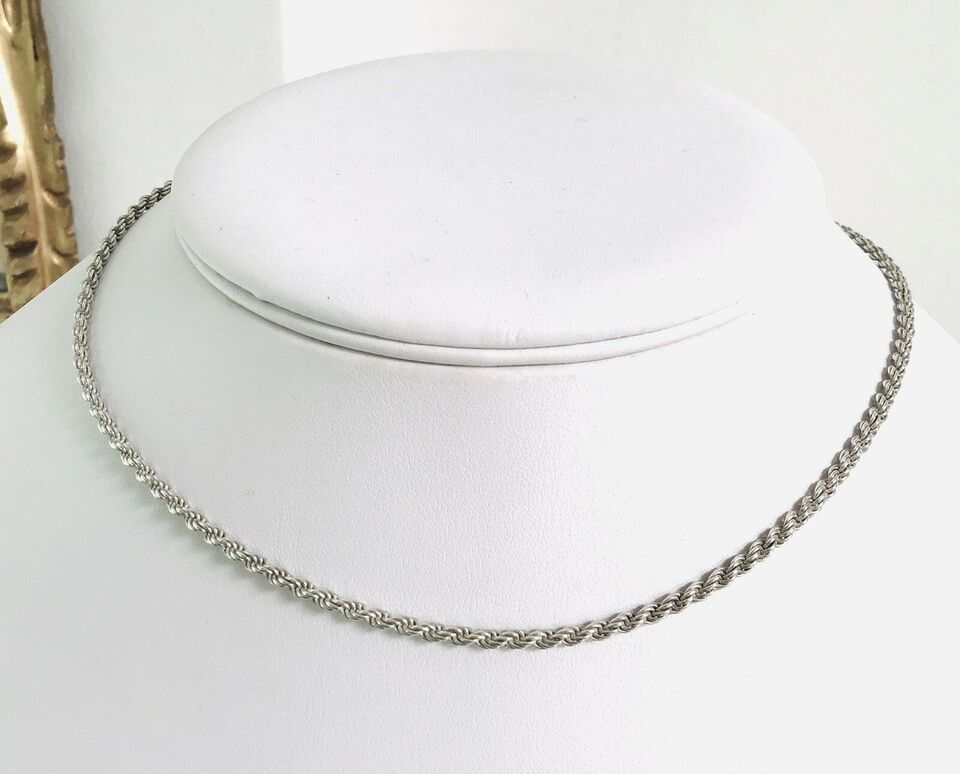 Halskæde, sølv, Italiensk