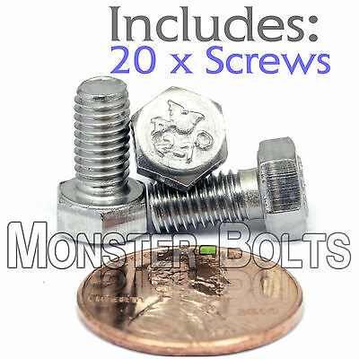 Hex Cap Tap Bolt // Screw DIN 931 Stainless Steel A2-70 10 M5-0.8 x 30mm