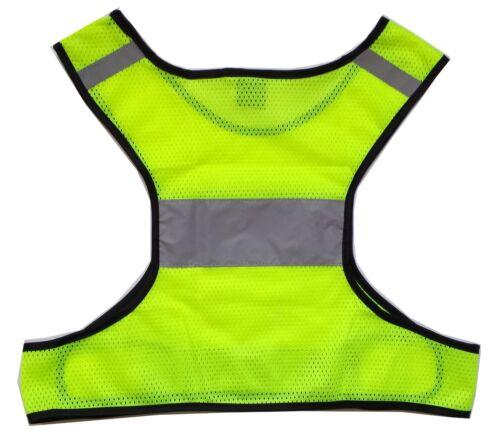 Large//XL New Biking Walking LW Reflective Running Vest with Bonus Sticker