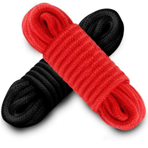 Black Red Japanese Silky Bondage Rope Soft To Touch Tie Up Fun