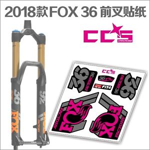Details about New 2018 FOX 36 Fork Stickers Pack Decals kit