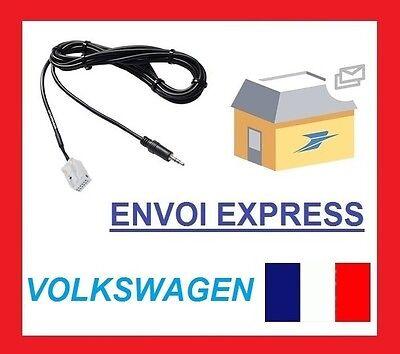 Cable JACK Auxiliaire MP3 pour autoradios d/'origine Volkswagen MFD3 et RNS-510