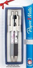 Paper Mate Flower Design Retractable Ball Pen Black Ink 2 Pens Gift Boxed Sealed