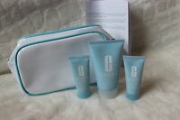 3pc Clinique Turnaround Set Body Cream 1.7 Facial Mask .5, Radiance Renwer .5 Oz