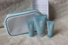 3pc CLINIQUE Turnaround Set Body Cream 1.7 Facial Mask .5, Radiance Renwer .5 oz