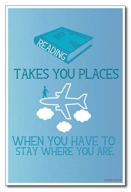 Reading Takes You Places - NEW Classroom Motivational Poster