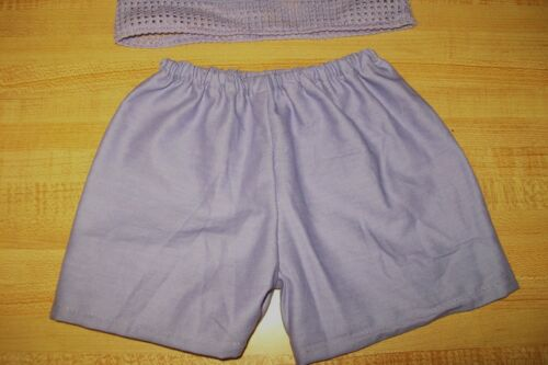 """MESH TANK TOP AND SHORTS SET LAVENDAR PURPLE for 16-17/"""" CPK Cabbage Patch Kids"""