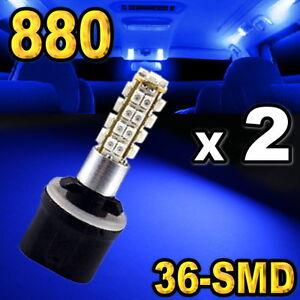 880-881-893-Blue-36-SMD-LED-Bulbs-For-Driving-Fog-Light-Pair