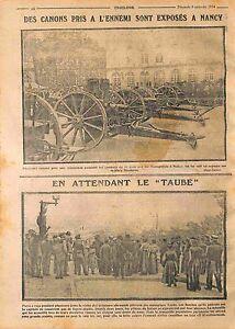 Exposition-de-la-Deutsches-Heer-Place-Stanislas-a-Nancy-Taube-a-Paris-WWI-1914