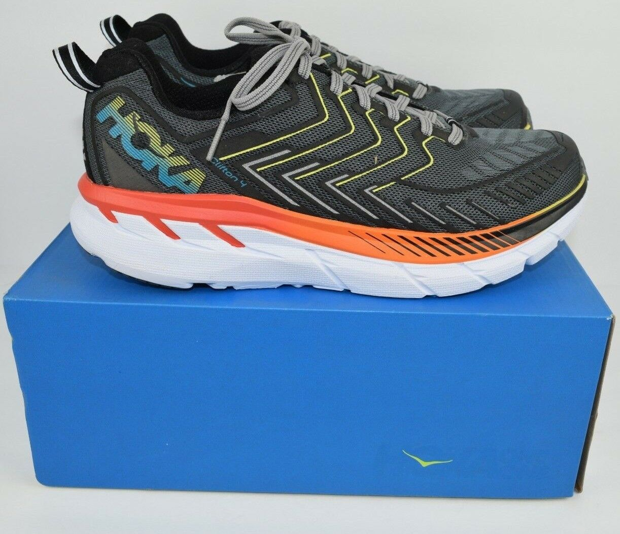 Hoka One One Clifton 4 Men's Running shoes Castlerock bluee 1014757 Mens Size 7.5