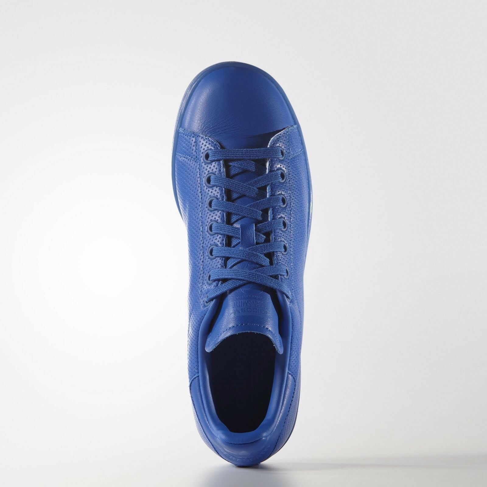 Adidas Original Stan Smith Mens Perforated Leather bluee Athletic Sneakers - NEW