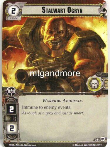 Stalwart Ogryn  #041 Warhammer 40000 Conquest LCG Base Set