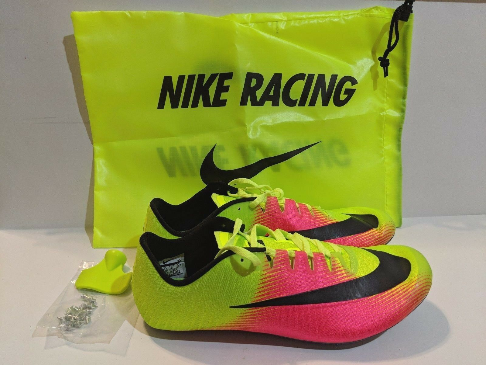 NEW Nike Zoom Ja Fly 3 Track & Field Spikes Rio Volt Pink 882032-999 Size 12.5