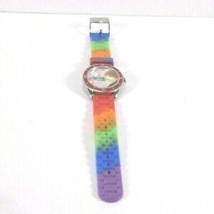 Justin-Bieber-Quartz-Wrist-Watch-Needs-Battery-Multi-Colored-Band