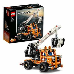 LEGO-42088-Technic-2-IN-1-Model-Cherry-Picker-And-Tow-Truck-Building-Toy-Set