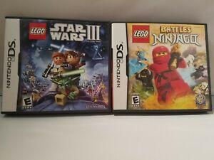 Lego-battles-Ninjago-and-Lego-Star-Wars-III-Nintendo-DS-Good-condition
