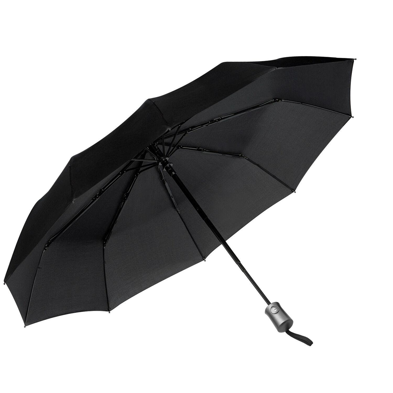 Compact 46 Inch Rain Umbrella for Men Women Automatic Folding Umbrella Auto Open Close Skull Travel Umbrella